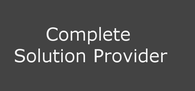 Complete Solution Provider